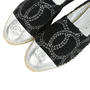 Authentic Second Hand Chanel Two Tone Logo Espadrilles (PSS-503-00006) - Thumbnail 6
