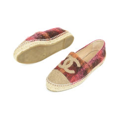 Chanel two tone tweed espadrilles 2?1529480069