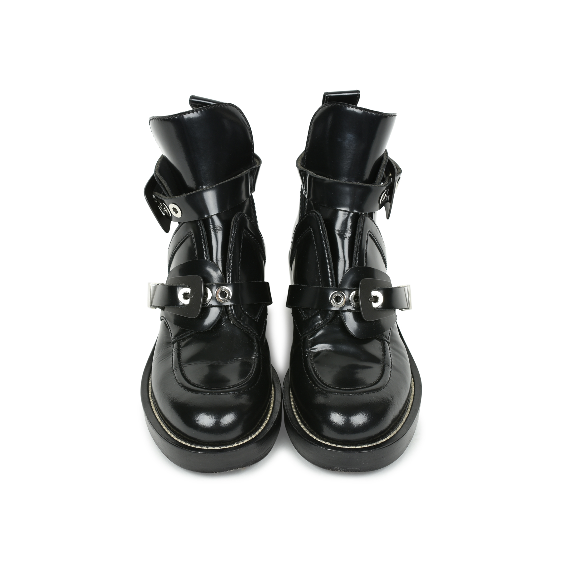 3e74374cb167 Authentic Second Hand Balenciaga Ceinture Leather Ankle Boots  (PSS-503-00009)
