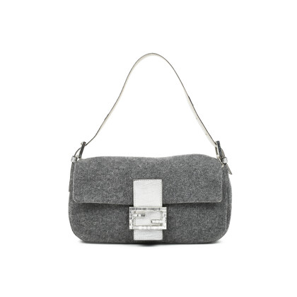 Authentic Second Hand Fendi Wool Baguette Bag (PSS-483-00007)