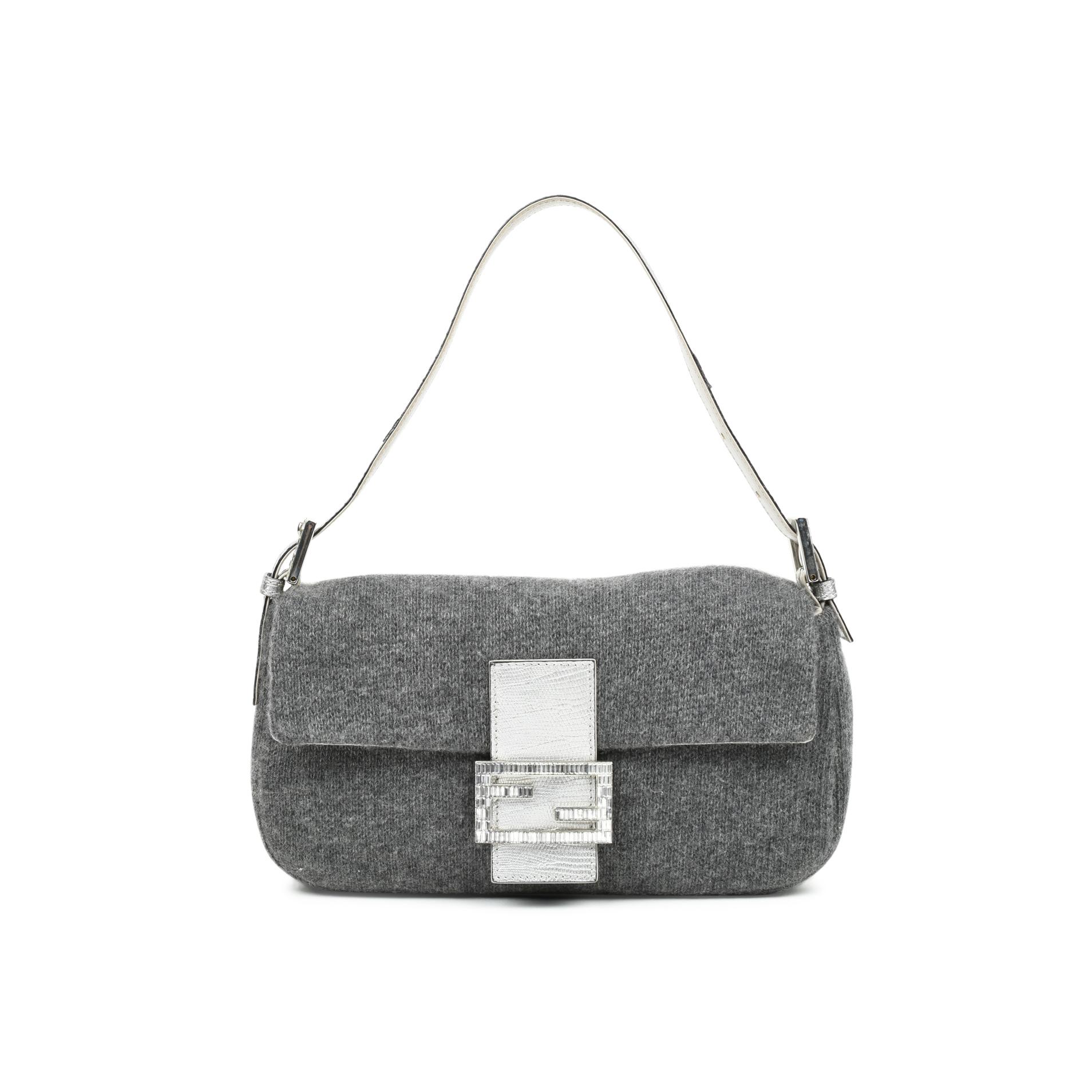 b2b3790e1adb Authentic Second Hand Fendi Wool Baguette Bag (PSS-483-00007)