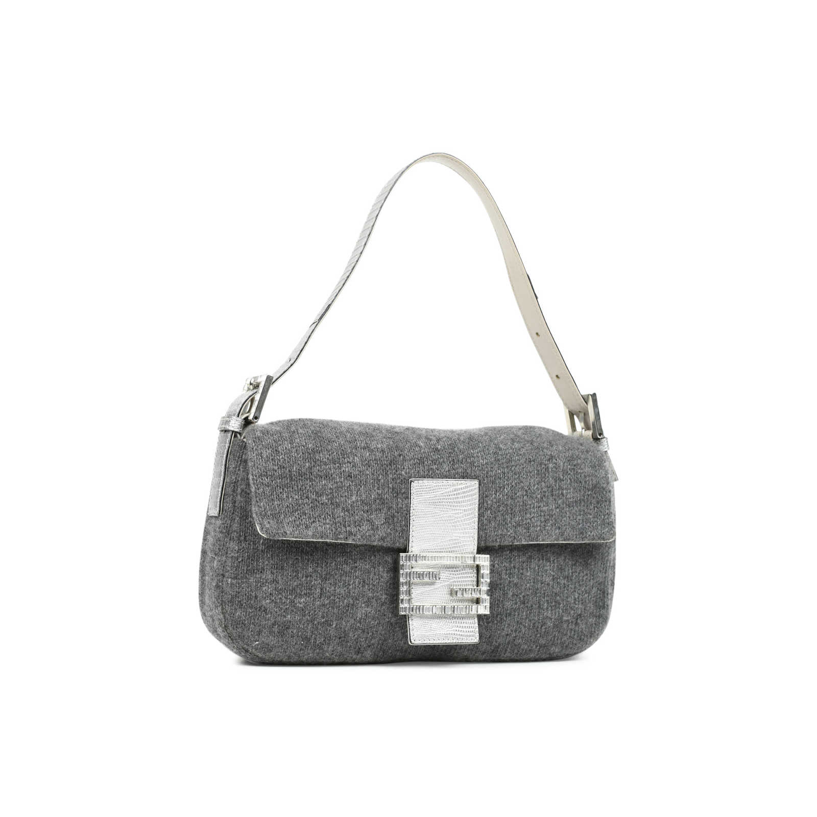 7af36b69fff2 ... Authentic Second Hand Fendi Wool Baguette Bag (PSS-483-00007) -  Thumbnail ...