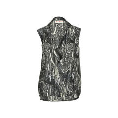 Abstract Snakeskin Top