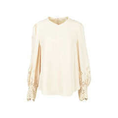 Embroidered Cady Blouse