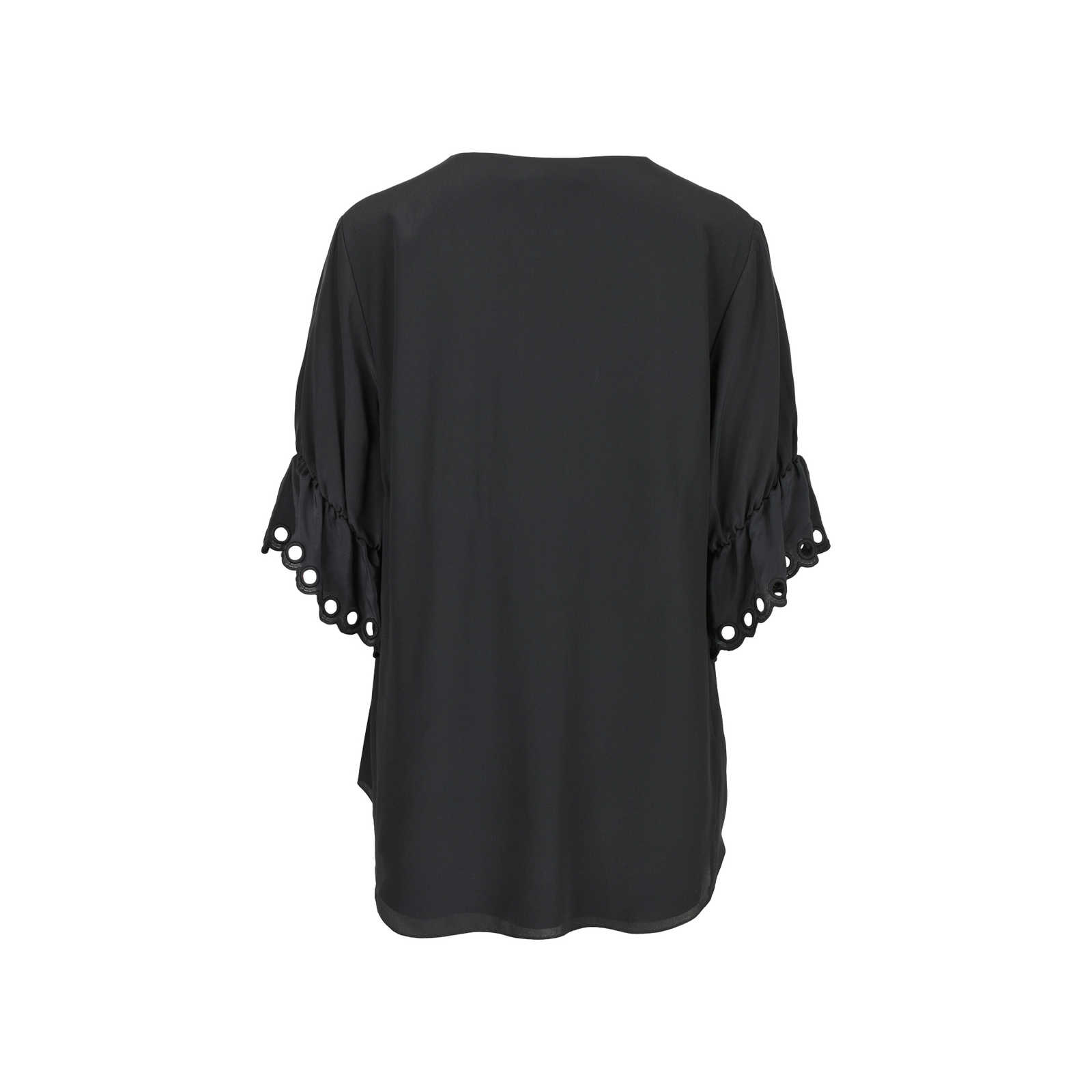 5705b5398c640 ... Authentic Second Hand Chloé Embroidered Silk Crepe De Chine Top  (PSS-470-00073 ...