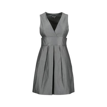 Authentic Second Hand Theory Low Neck Pleated Dress (PSS-486-00019)