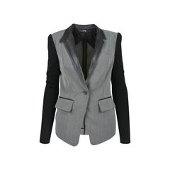 Leather Trimmed Blazer