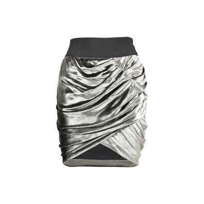 Authentic Second Hand Elizabeth and James Metallic Velvet Skirt (PSS-486-00010)