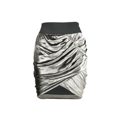 Metallic Velvet Skirt