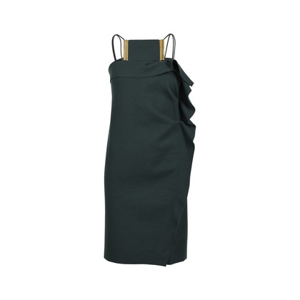 Lanvin Neckpiece Ruffle Dress
