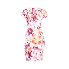 Black halo abstract print keyhole dress 2?1530168596