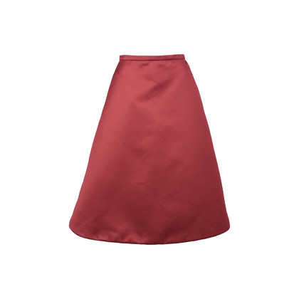 Authentic Second Hand Rochas Satin Flared Skirt (PSS-498-00013)