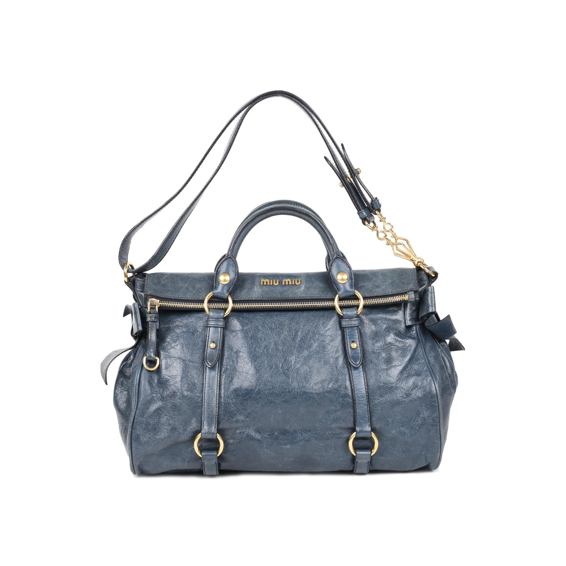 Authentic Second Hand Miu Miu Vitello Lux Bow Bag (PSS-498-00014 ... a7ecbd00b82b8