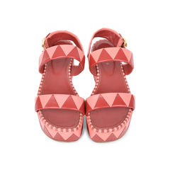 Geometric Platform Sandals