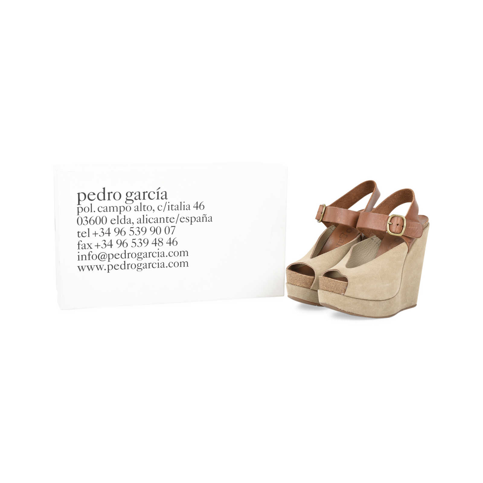 47dda915f82d ... Authentic Second Hand Pedro Garcia Wedge Sandals (PSS-498-00004) -  Thumbnail