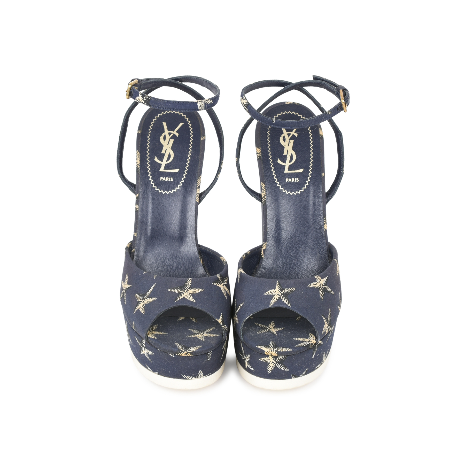 0fca34ca3cf Authentic Second Hand Yves Saint Laurent Starfish Wedge Sandals  (PSS-498-00017) - THE FIFTH COLLECTION