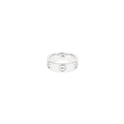 Authentic Second Hand Cartier Love Ring with Diamonds (PSS-246-00097)