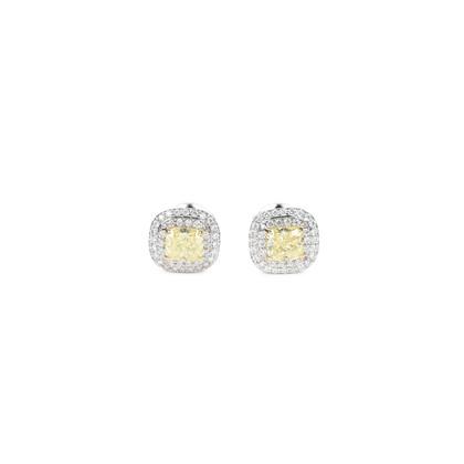 Tiffany Co Soleste Fancy Intense Yellow Diamond Earrings