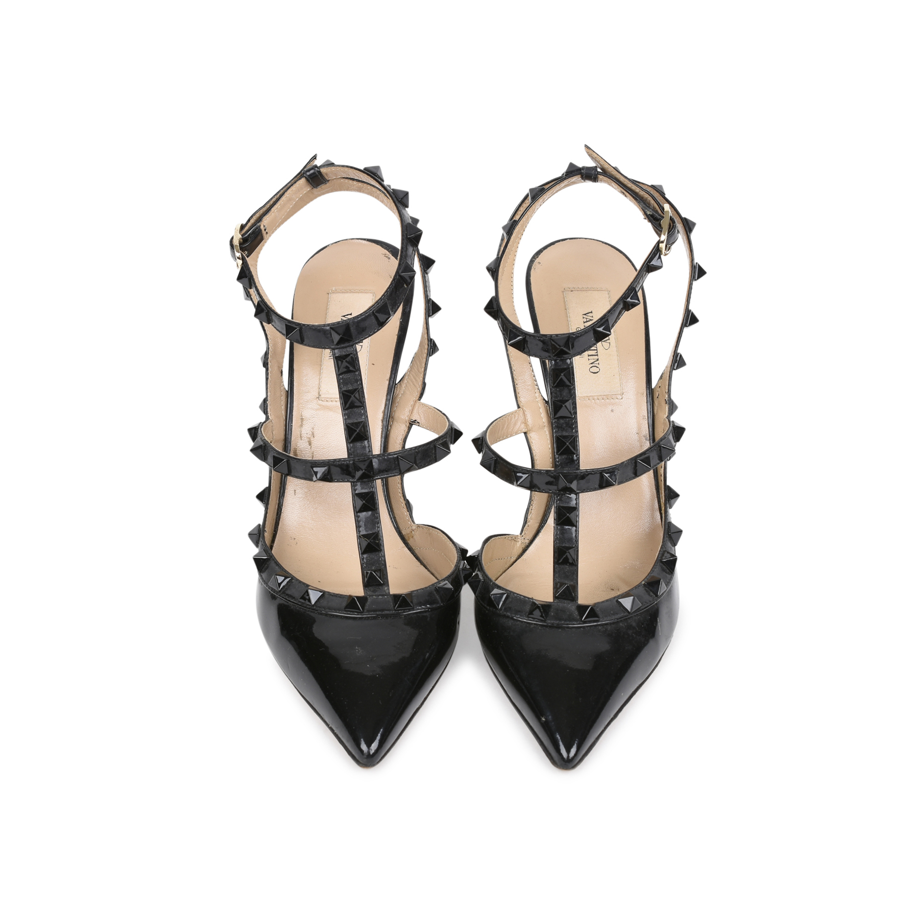 516a0475883 Authentic Second Hand Valentino Rockstud Patent Pumps (PSS-513-00038 ...