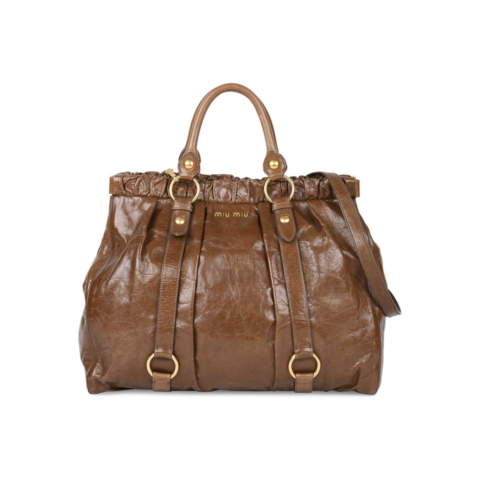 92daaef5926f Authentic Pre Owned Miu Miu Vitello Lux Satchel (PSS-513-00015) ...