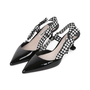 Authentic Pre Owned Miu Miu Patent and Gingham Slingbacks (PSS-200-01523) - Thumbnail 2