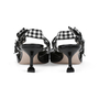 Authentic Pre Owned Miu Miu Patent and Gingham Slingbacks (PSS-200-01523) - Thumbnail 4