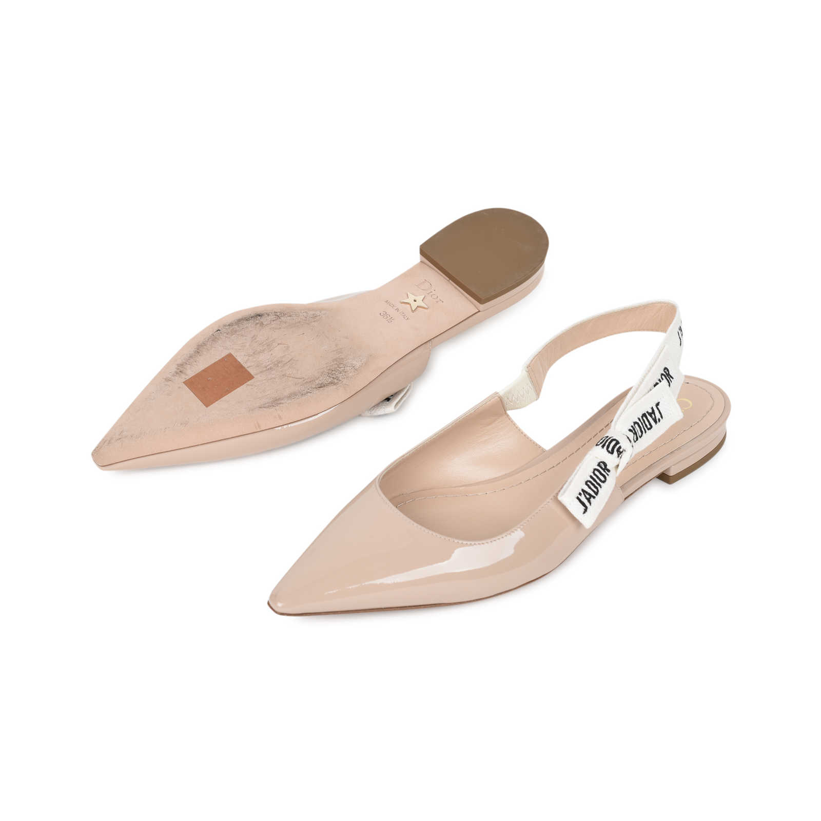 8c1640f641 ... Authentic Second Hand Christian Dior J'Adior Patent Leather Slingback  Flats (PSS-200 ...