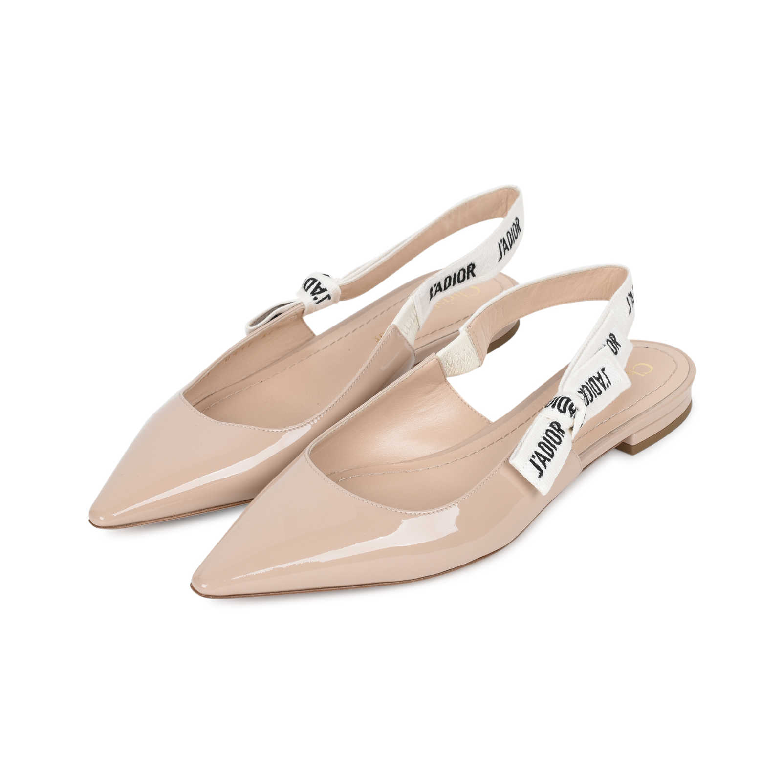 303ecac1d3 ... Authentic Second Hand Christian Dior J'Adior Patent Leather Slingback  Flats (PSS-200 ...
