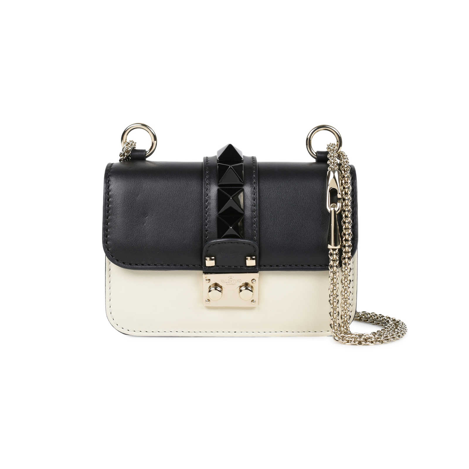 bedb80051f3 Tap to expand · Authentic Second Hand Valentino Mini Rockstud Lock Bag  (PSS-200-01515) ...