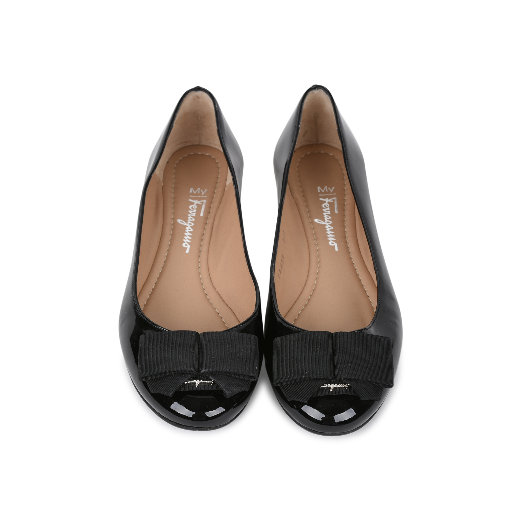 a37b3e7da Authentic Second Hand Salvatore Ferragamo Bow Flats (PSS-506-00017) - THE  FIFTH COLLECTION