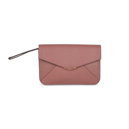 Authentic Second Hand Fendi Geometric Envelope Clutch (PSS-506-00009)