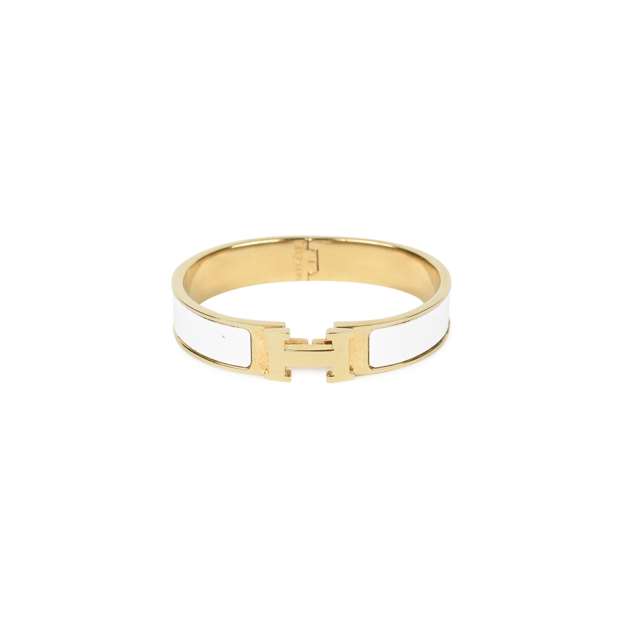 9189d3c683a Authentic Second Hand Hermès Narrow Clic Clac H Bangle (PSS-267-00005) -  THE FIFTH COLLECTION