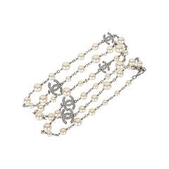 Chanel pearl and crystal logo sautoir 2?1531285786