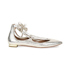 Aquazzura christy lace up metallic flats 2?1531378917