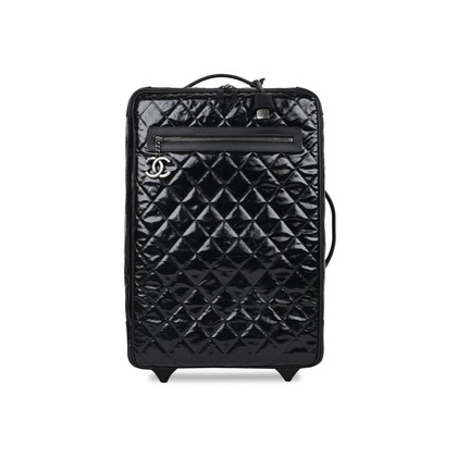 Authentic Pre Owned Chanel Diamond Quilted Rolling Luggage (PSS-200-01509)