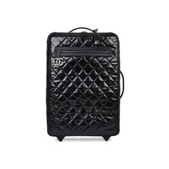 Diamond Quilted Rolling Luggage