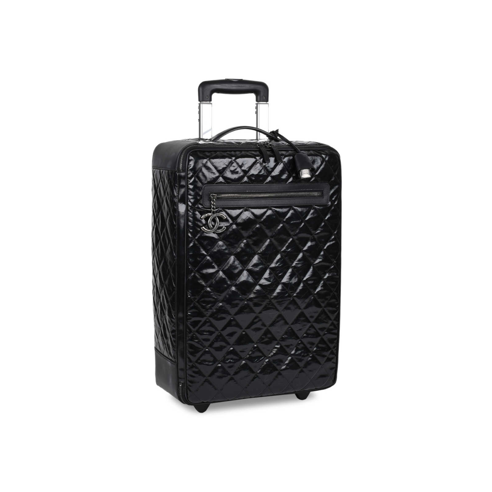 caf11ce3ccb6 ... Authentic Second Hand Chanel Diamond Quilted Rolling Luggage  (PSS-200-01509) ...