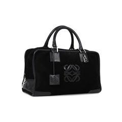 Loewe amazona suede bag black 2?1531380146