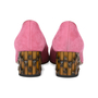 Authentic Second Hand Gucci Dahlia Bamboo Suede Pumps (PSS-515-00004) - Thumbnail 5