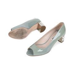 Miu miu embellished patent open toe pumps 2?1531730537