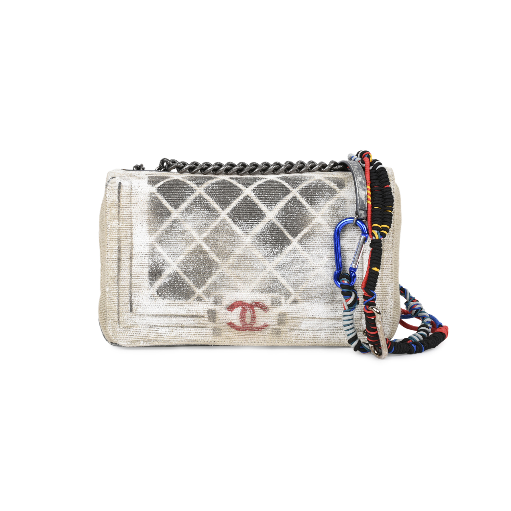 Authentic Second Hand Chanel Oh My Boy Graffiti Bag Pss 515 00009 The Fifth Collection
