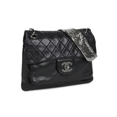 Chanel lambskin and chainmail flap bag 2?1531730682
