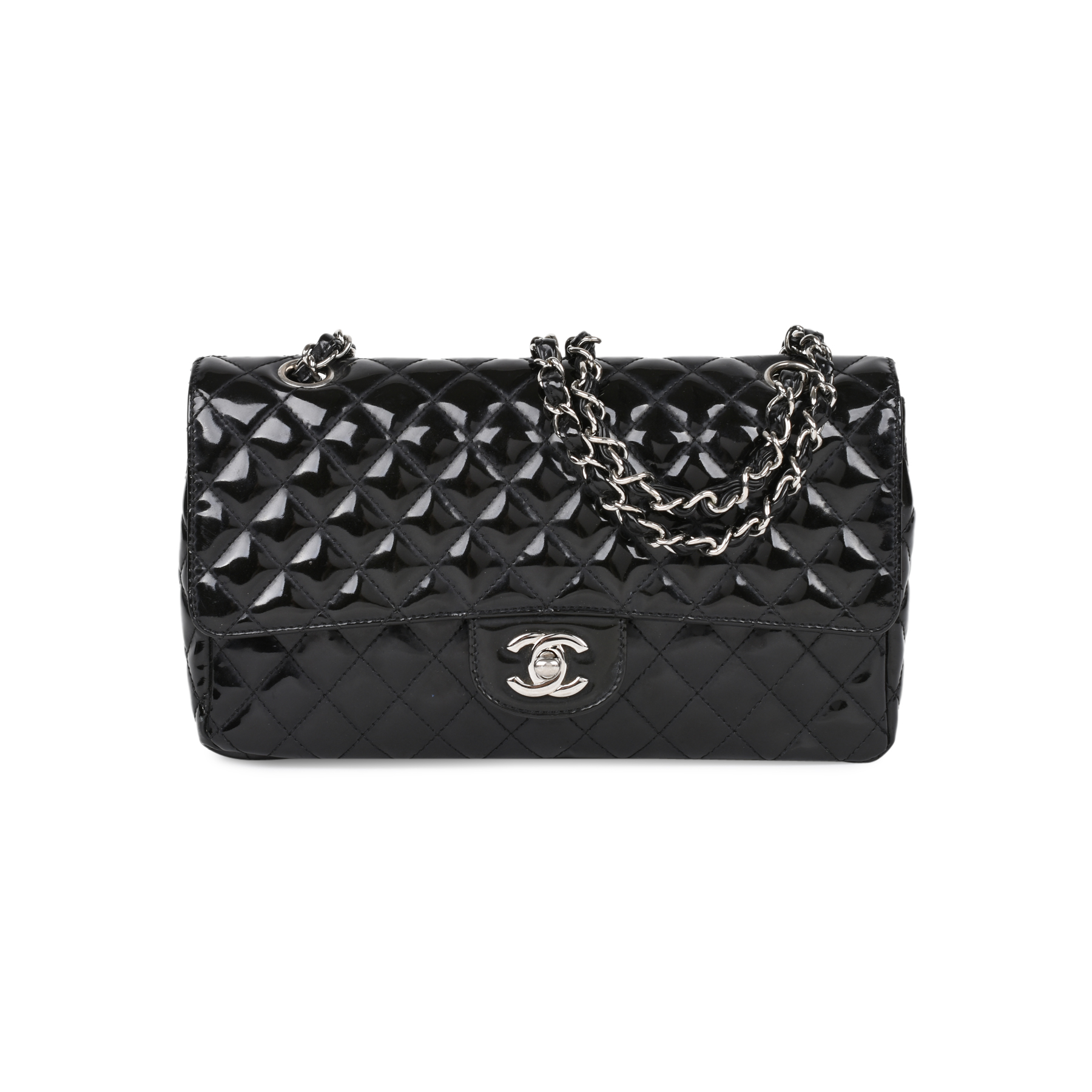 Authentic Second Hand Chanel Patent Single Flap Bag (PSS-515-00011 ... b2090bb2f46ed
