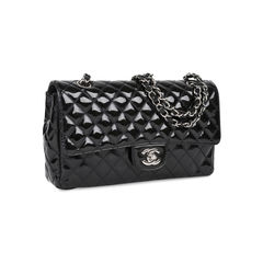 Chanel patent single flap bag 2?1531730723