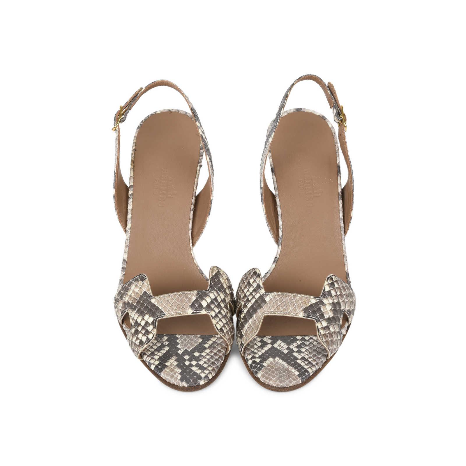 eb7acaedae9 Authentic Second Hand Hermès Python Night 70 Sandals (PSS-515-00001 ...