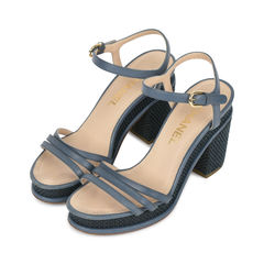 Chanel tweed platform sandals 2?1531730887