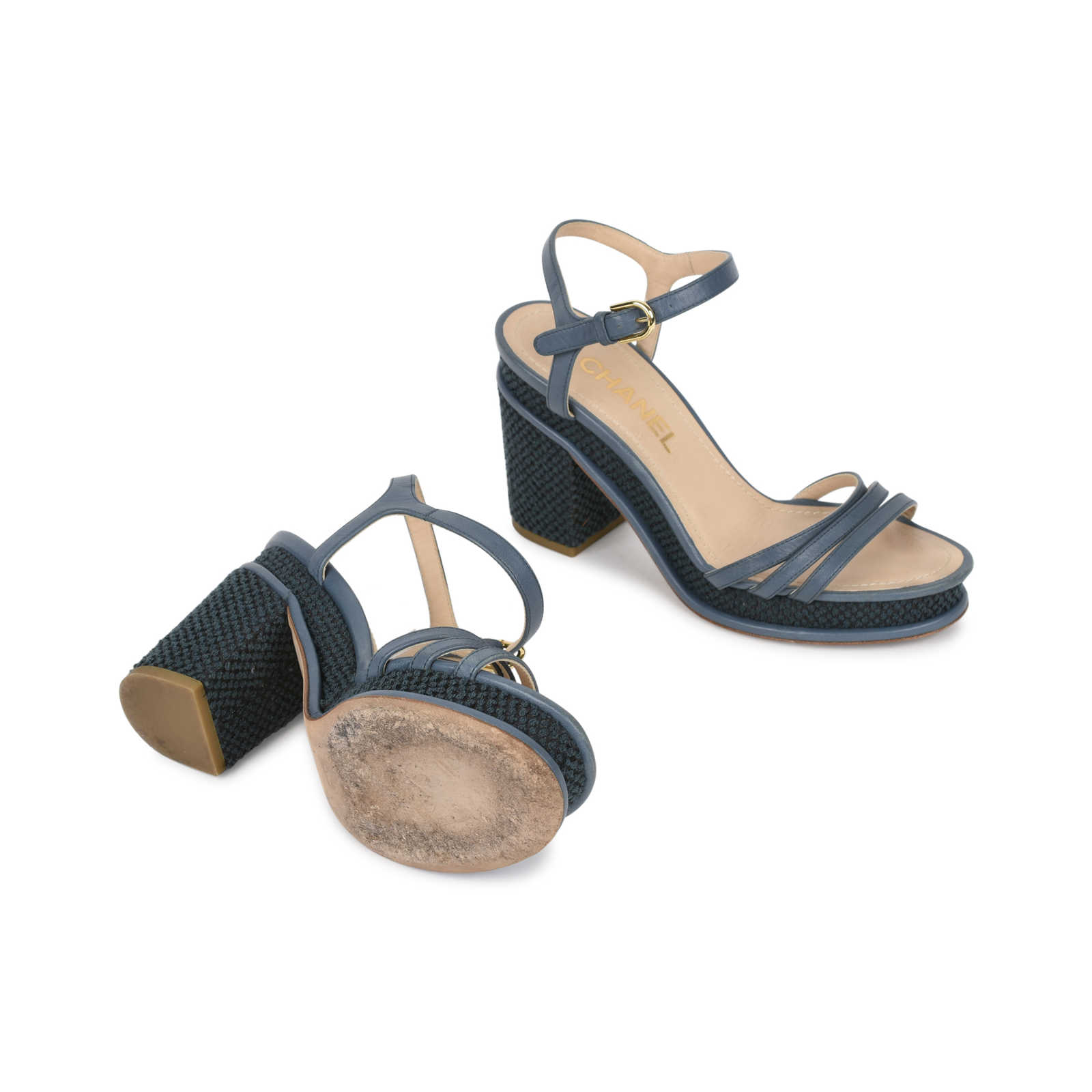 8138585851ce ... Authentic Second Hand Chanel Tweed Platform Sandals (PSS-515-00005) -  Thumbnail ...