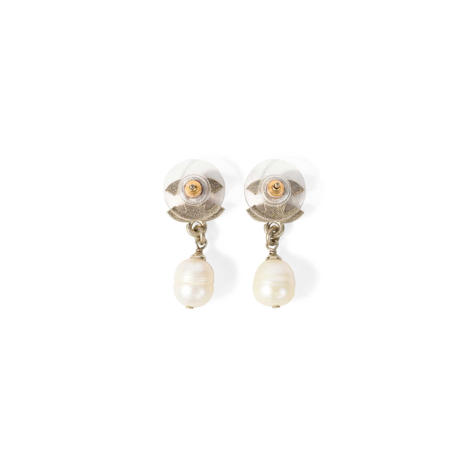 66698111fce843 ... Authentic Second Hand Chanel CC Drop Pearl Earrings (PSS-233-00032) ...