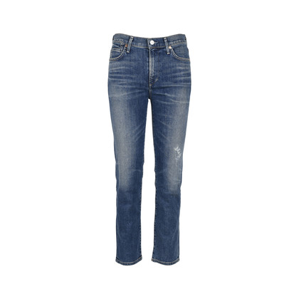 Authentic Second Hand Citizens of Humanity High Rise Cigarette Jeans (PSS-126-00090)