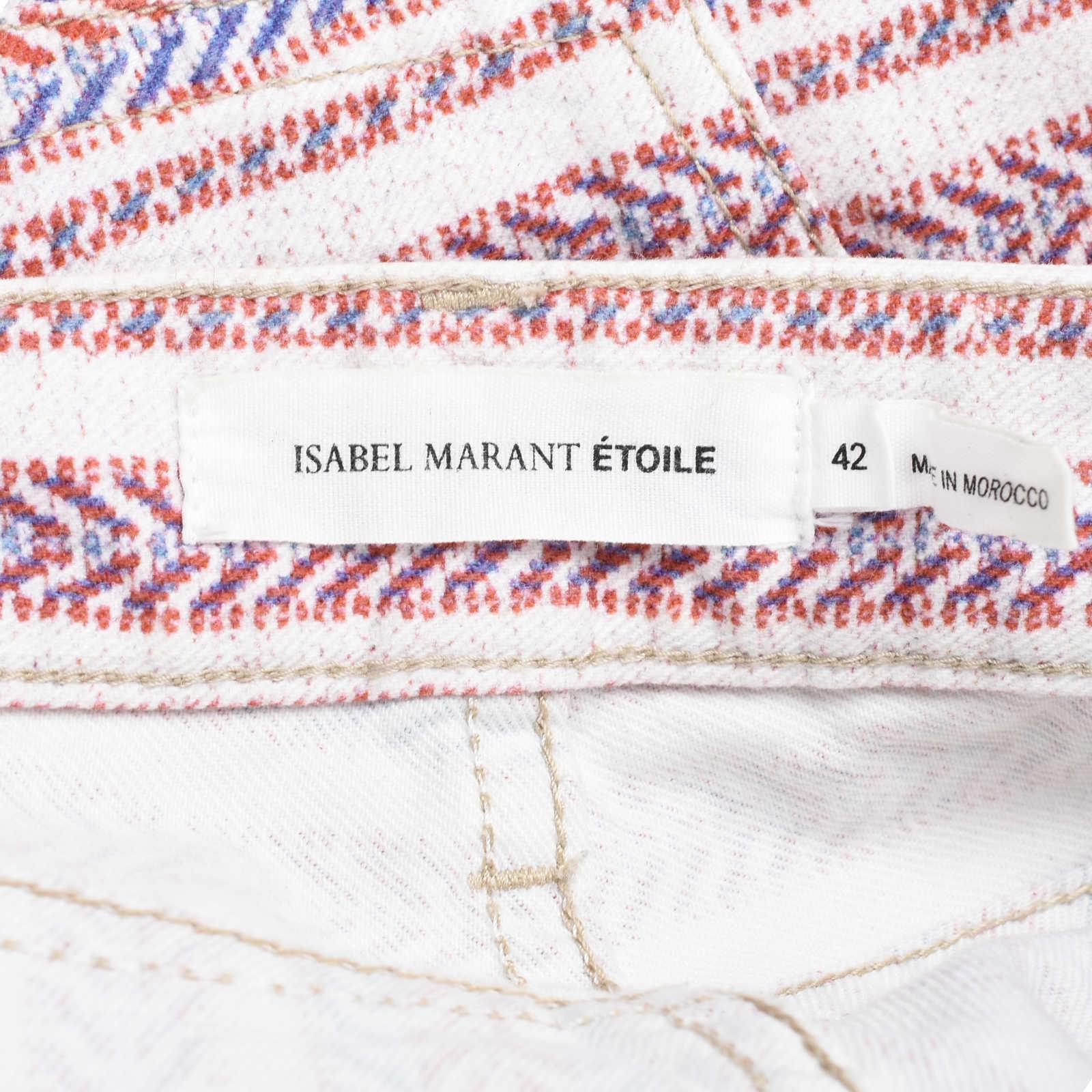 669251cebc1 ... Authentic Second Hand Isabel Marant Étoile Printed Denim Shorts  (PSS-126-00094)